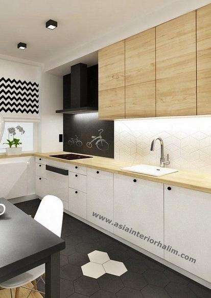 Kitchen A56 contemporary-oak - Asia Interior Halim..